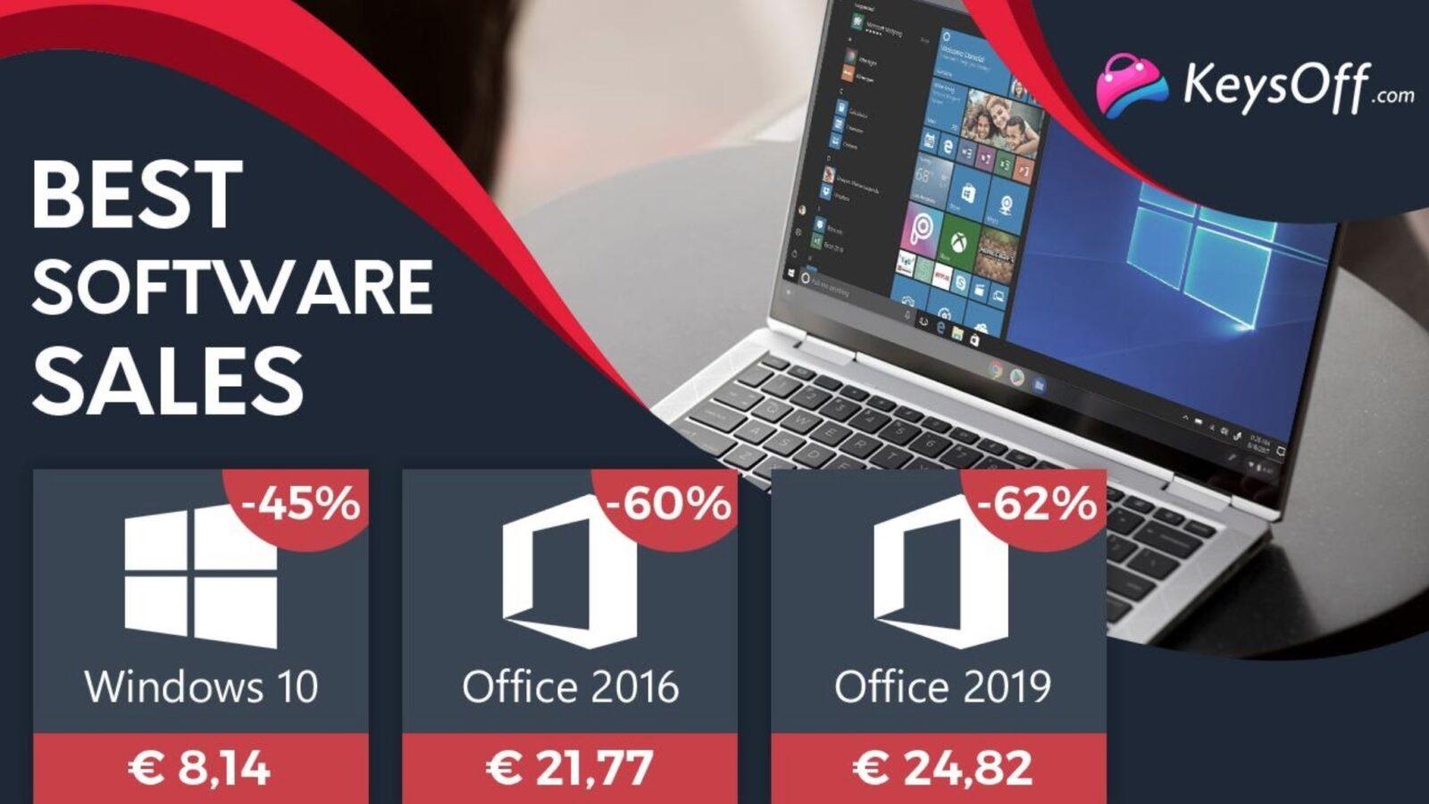 Microsoft Windows 10 PRO a soli € 8,14, Microsoft Office a soli € 21,77: ecco le offerte anche per Mac