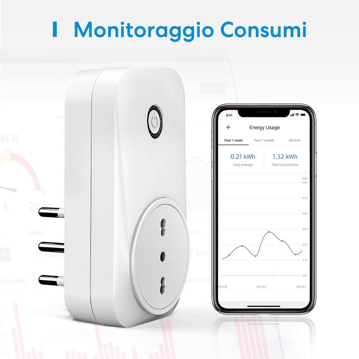 Tre prese smart Meross spina italiana per Homekit Alexa e Google: meno di 10 Euro l'una