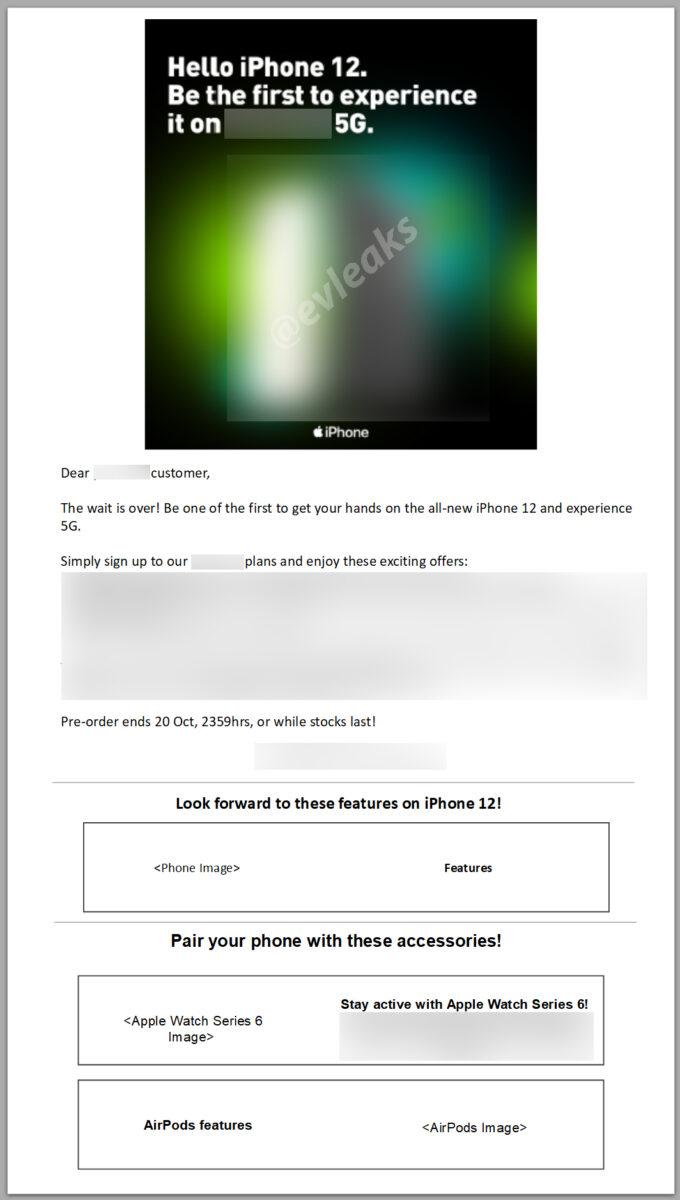 La prima pubblicità degli iPhone 12 trapela senza le foto dei terminali