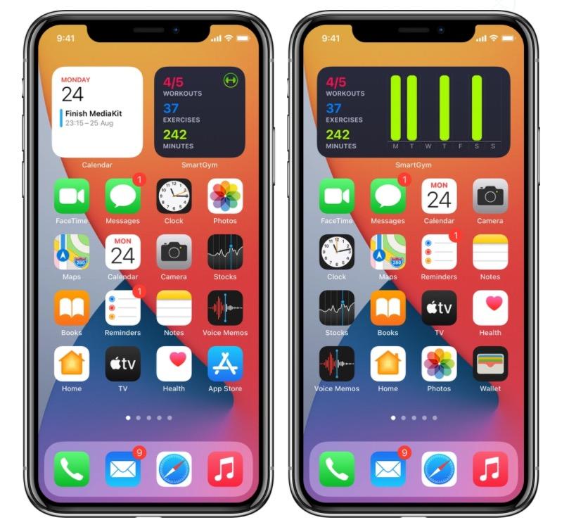 Ecco tutti i widget iOS 14 che potete provare al momento