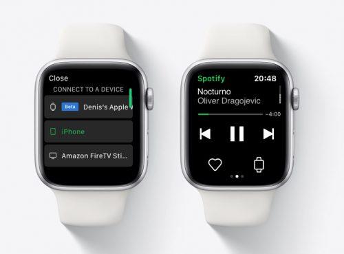 Spotify testa l'app Apple Watch senza connessione con iPhone