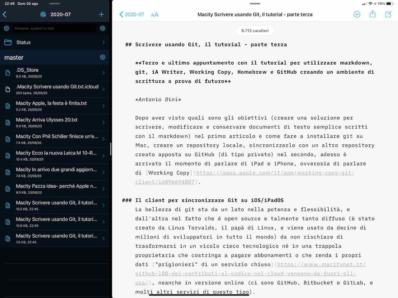 Scrivere usando Git, il tutorial – parte terza