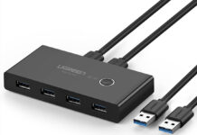 Recensione UGREEN 4 Porte USB 3.0 KVM Switch, come controllare due computer in modo trasparente