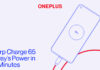OnePlus raddoppia la carica rapida con Warp Charge 65