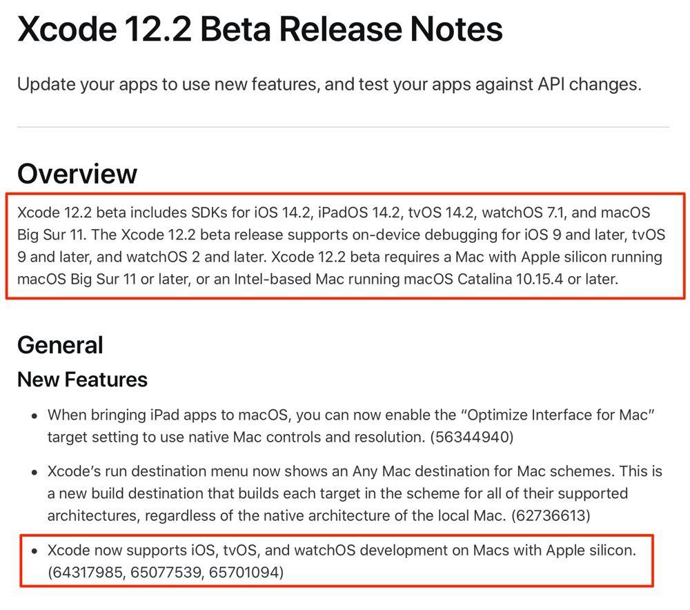 Nella beta di Xcode 12.2 riferimenti a iOS 14.2 e altri sistemi futuri