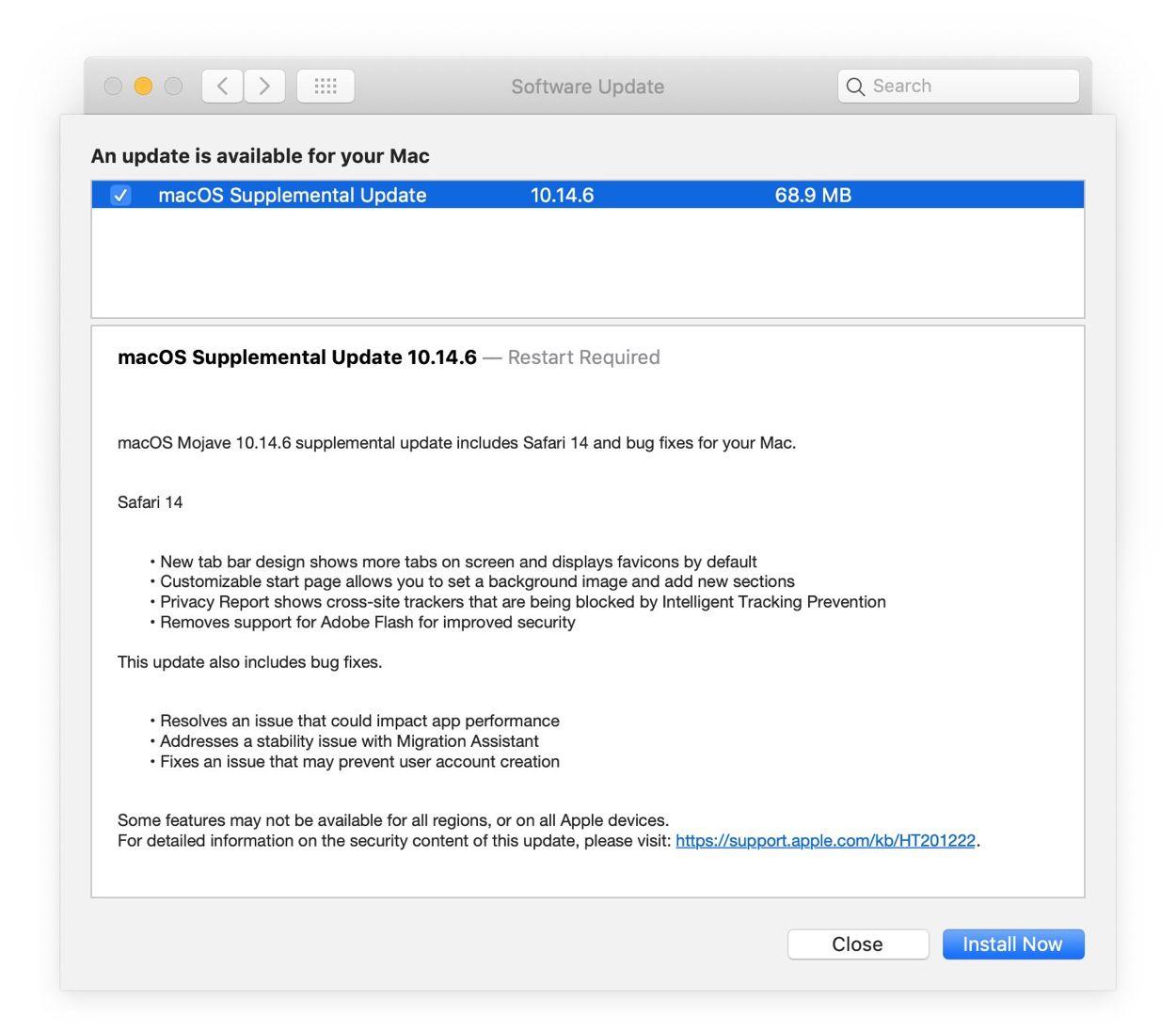macOS 10.14.6, disponibile il Supplemental Update per risolvere i problemi del precedente aggiornamento