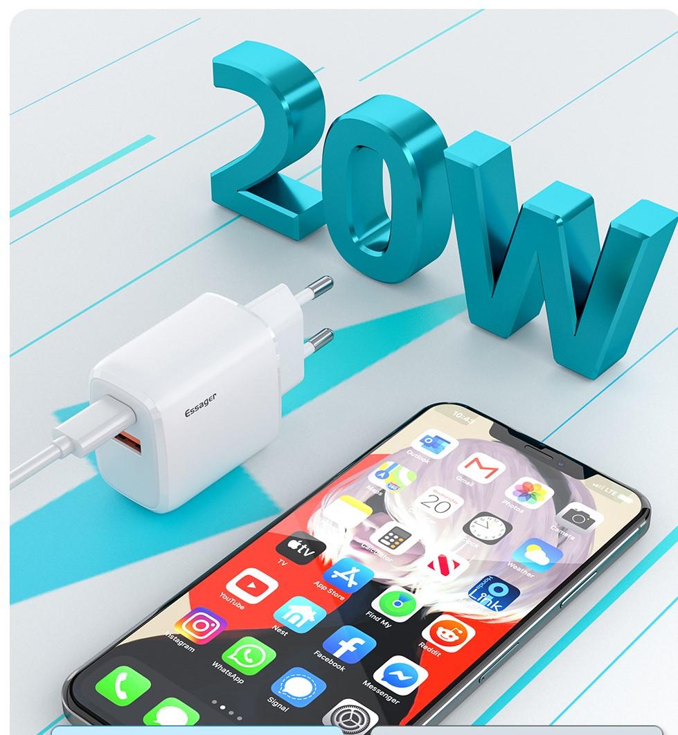 Ricaricate iPhone 12 alla massima velocità con il caricatore Essager 20W in sconto a 6,53 con coupon
