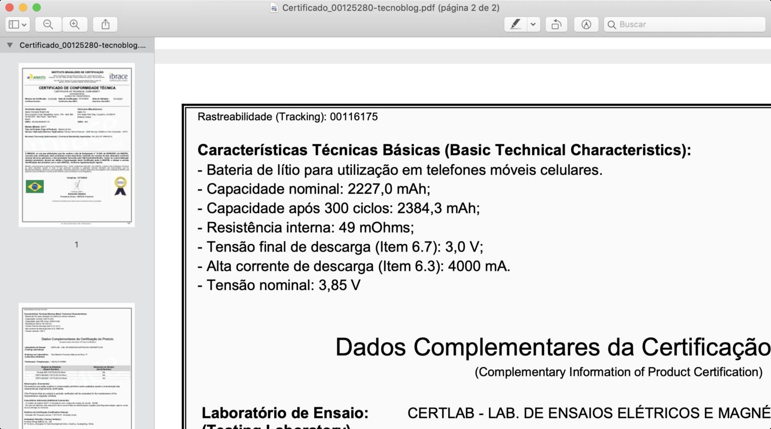 Batteria iPhone 12 mini da 2.227 mAh, quella di iPhone 12 2.815 mAh