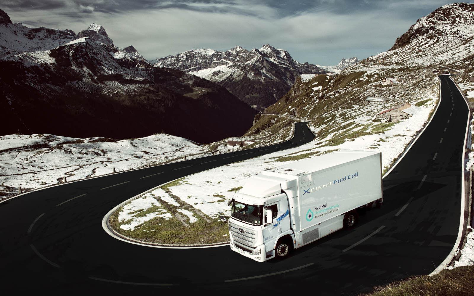 In Svizzera i primi camion elettrici a idrogeno di Hyundai