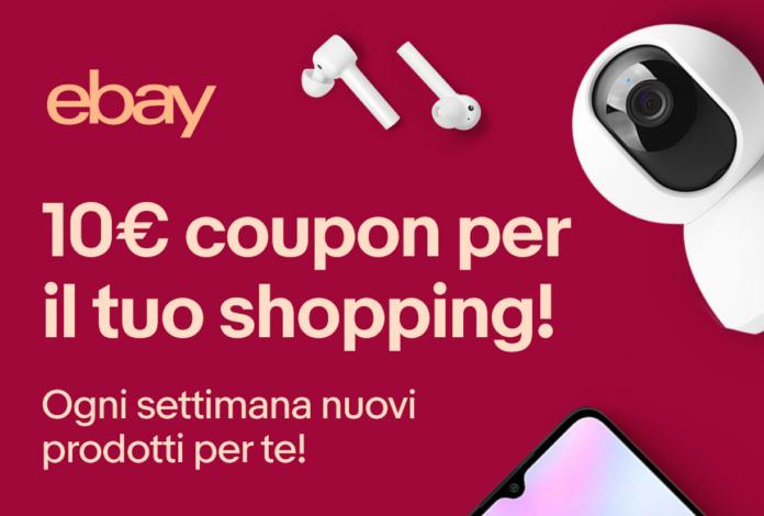 Codice sconto fino a 50 euro per acquisti eBay