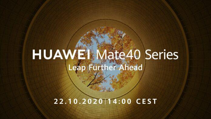 Huawei Mate 40 arriva il 22 ottobre
