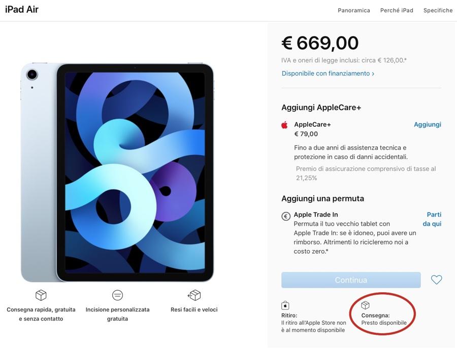 iPad Air 4 forse arriva il 23 ottobre