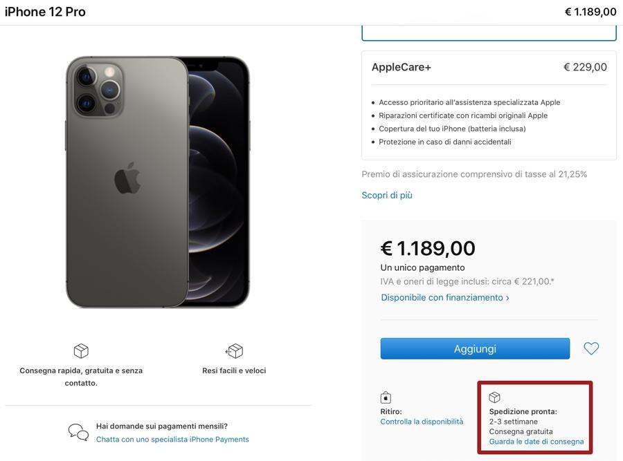 Preordini iPhone 12 e 12 Pro: si allungano le date di consegna