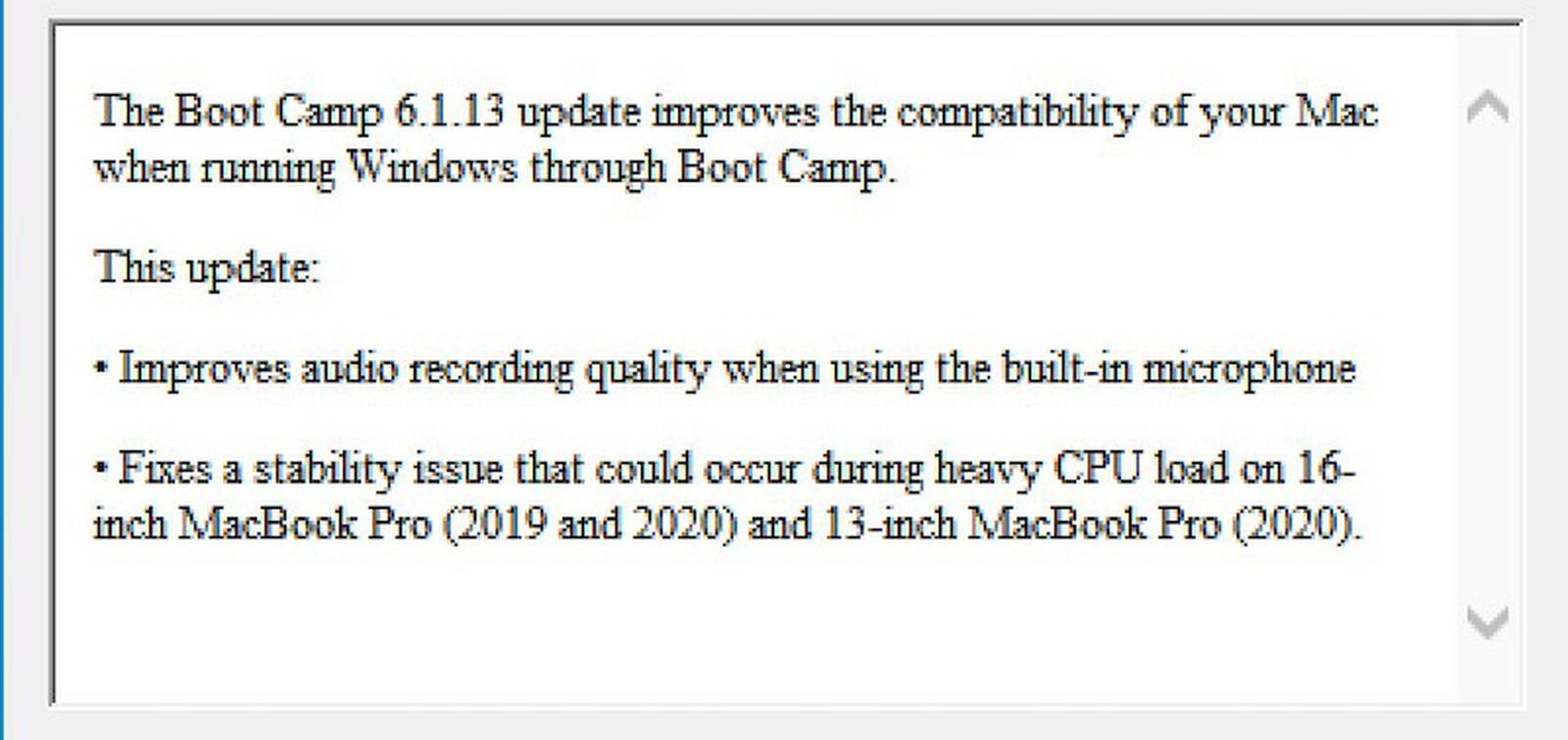 "Apple indica un nuovo MacBook Pro 16"" 2020 in Boot Camp"