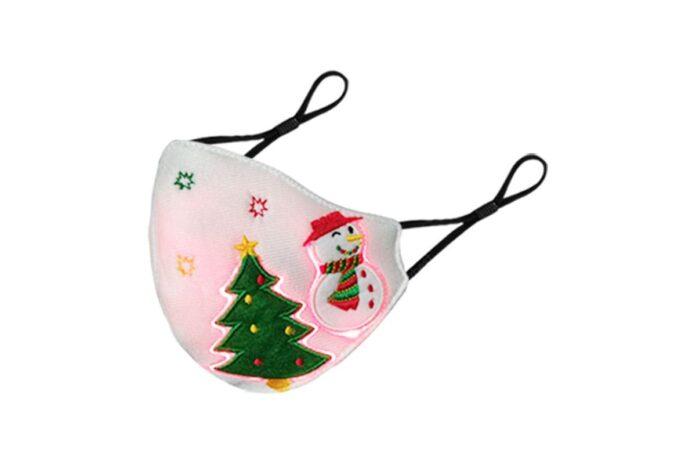 Mascherine natalizie luminose con filtri PM2.5 e controllo vocale in offerta online