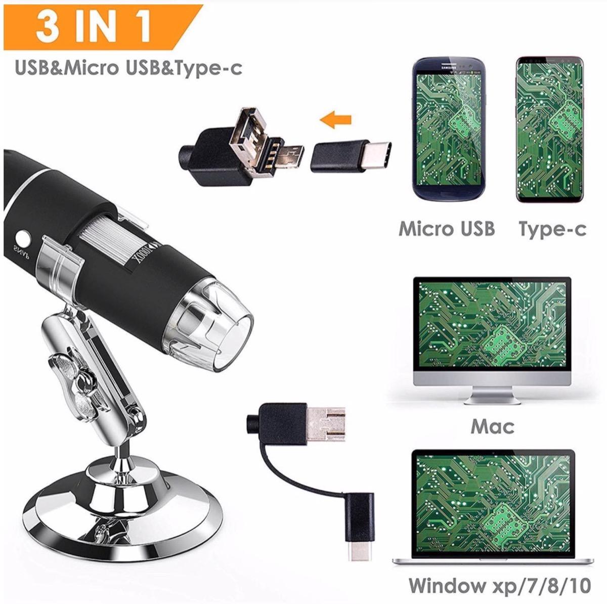 Microscopio 1000x con WiFi in offerta lampo a meno di 60 euro