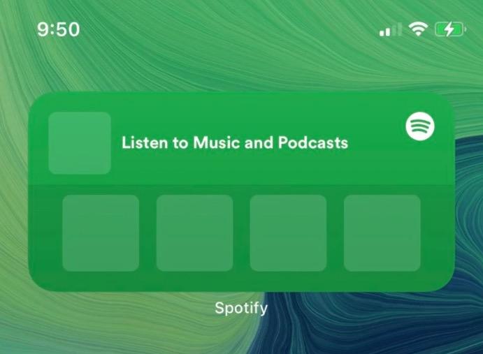 Spotify sta sviluppando il suo widget per iOS 14