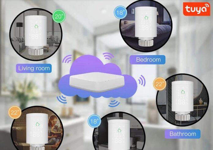La valvola smart per termosifoni Moeshouse, compatibile ZigBee 3.0, in offerta lampo a 37,19 euro
