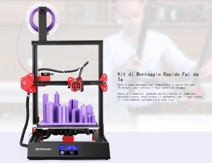 Alfawise U50, la stampante 3D che ti costruisci da solo in offerta lampo a 180 euro