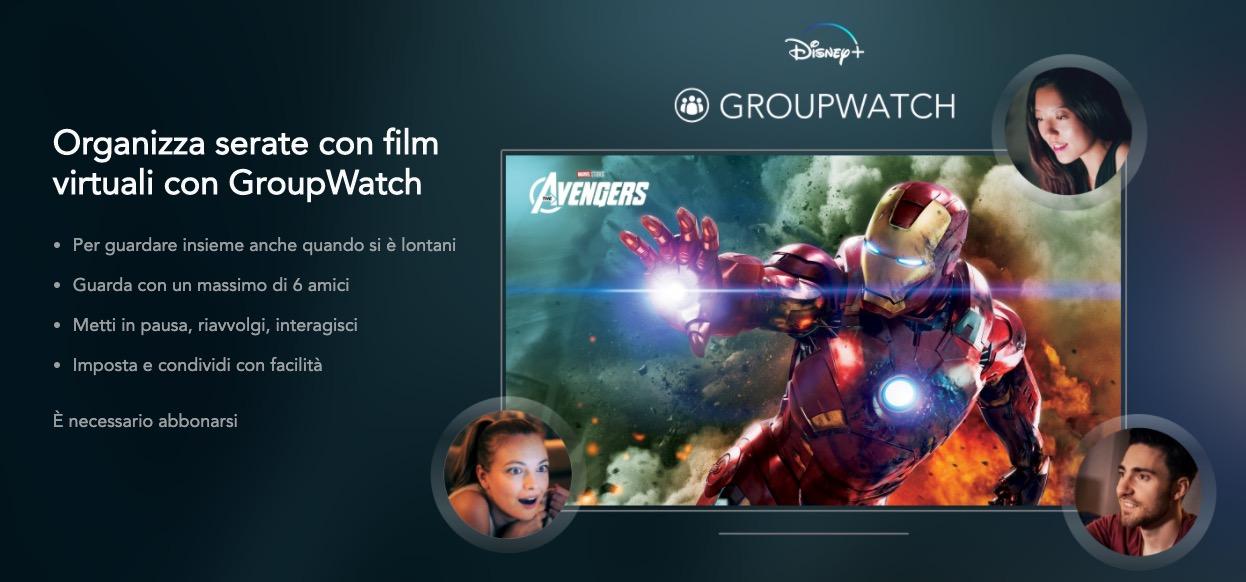 Pericolo lockdown, Disney+ vi fa vedere i film in compagnia con GroupWatch senza muovervi da casa