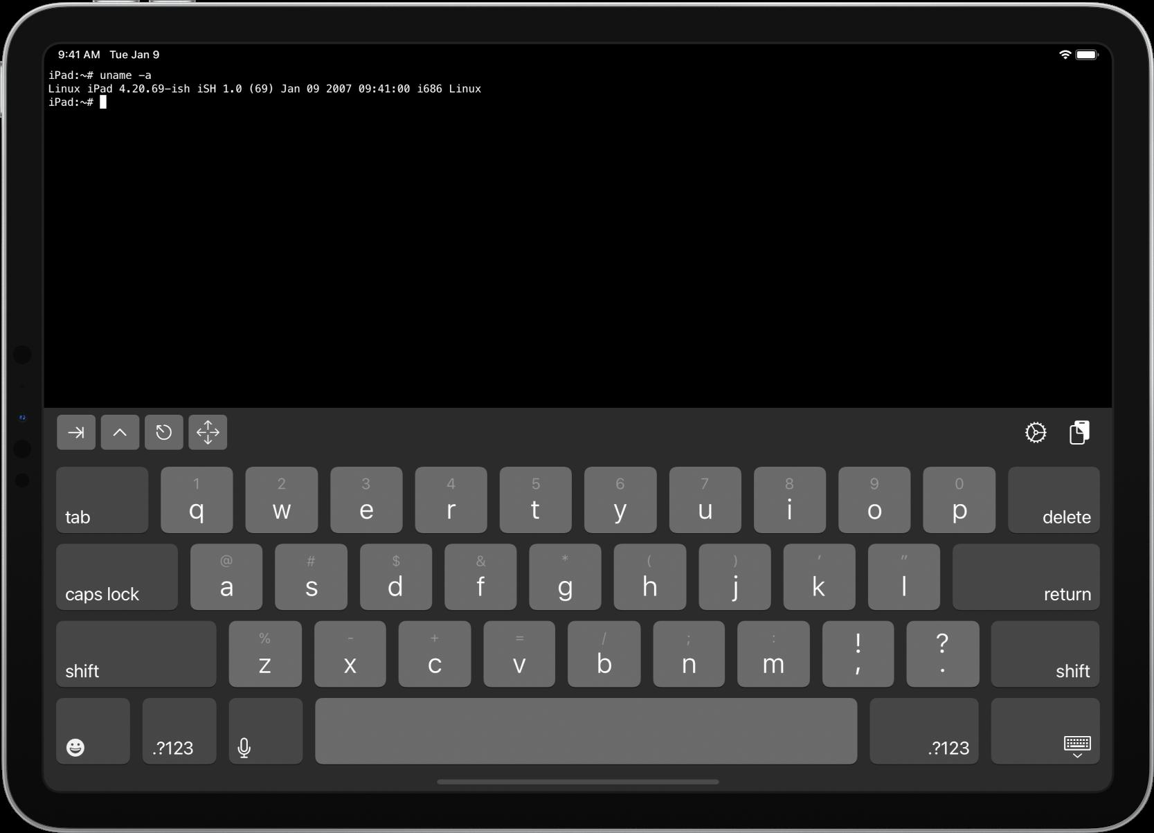 iSH Shell permette di avere una shell Linux su iPad e iPhone