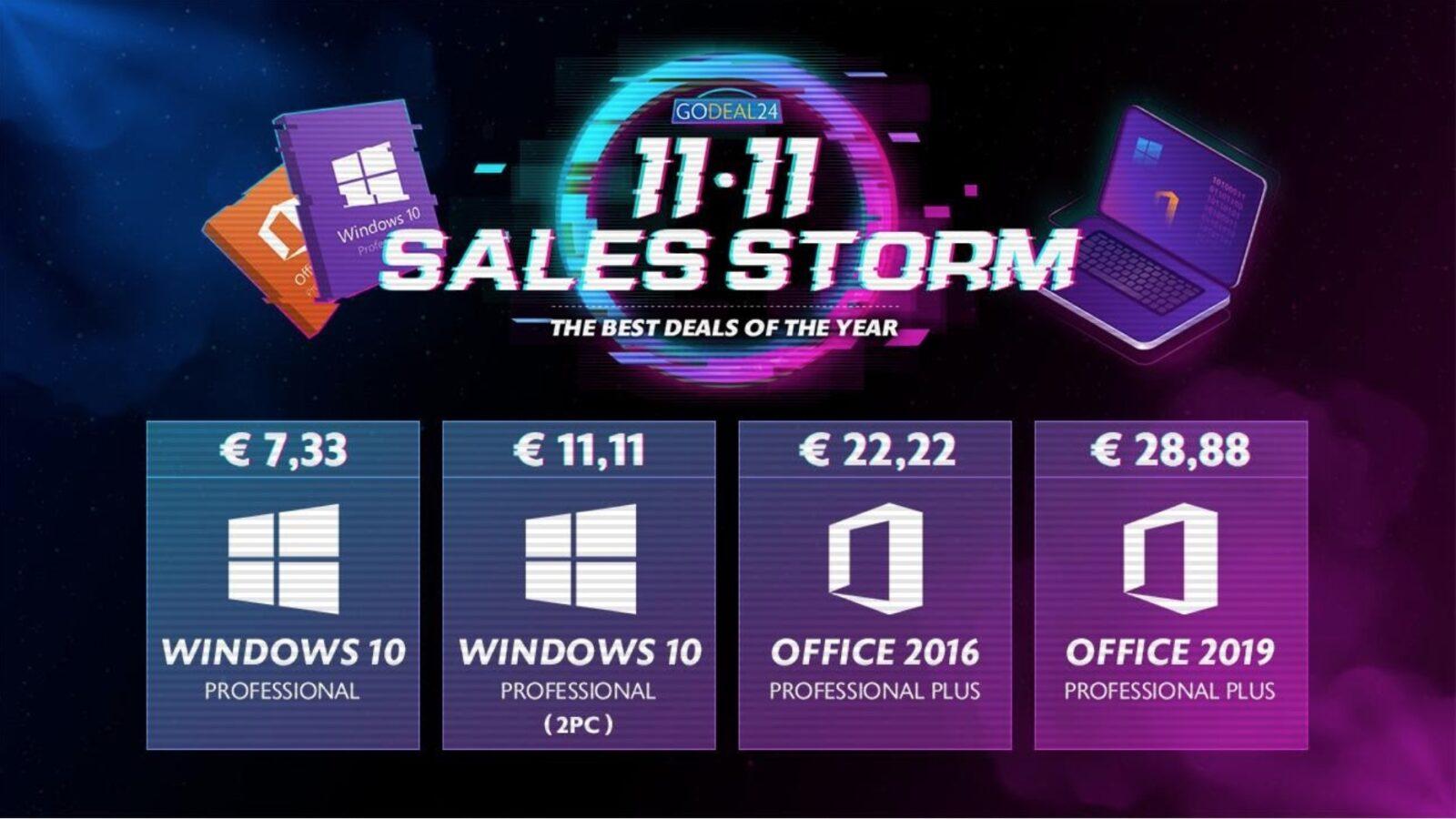 Windows 10 a soli 5 € , Office a soli 15 €: le offerte di novembre di GoDeals24