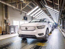 Volvo Cars, avviata la produzione della XC40 Recharge a trazione solo elettrica