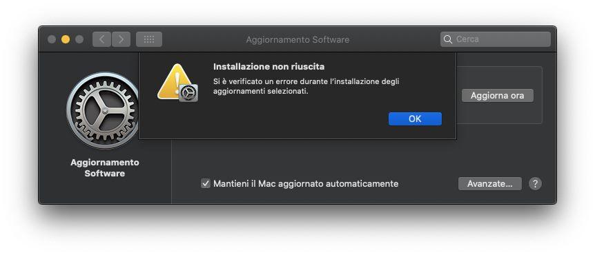 macOS Big Sur, un errore nei server Apple nel giorno del primo download ha provocato problemi anche agli utenti di macOS Catalina