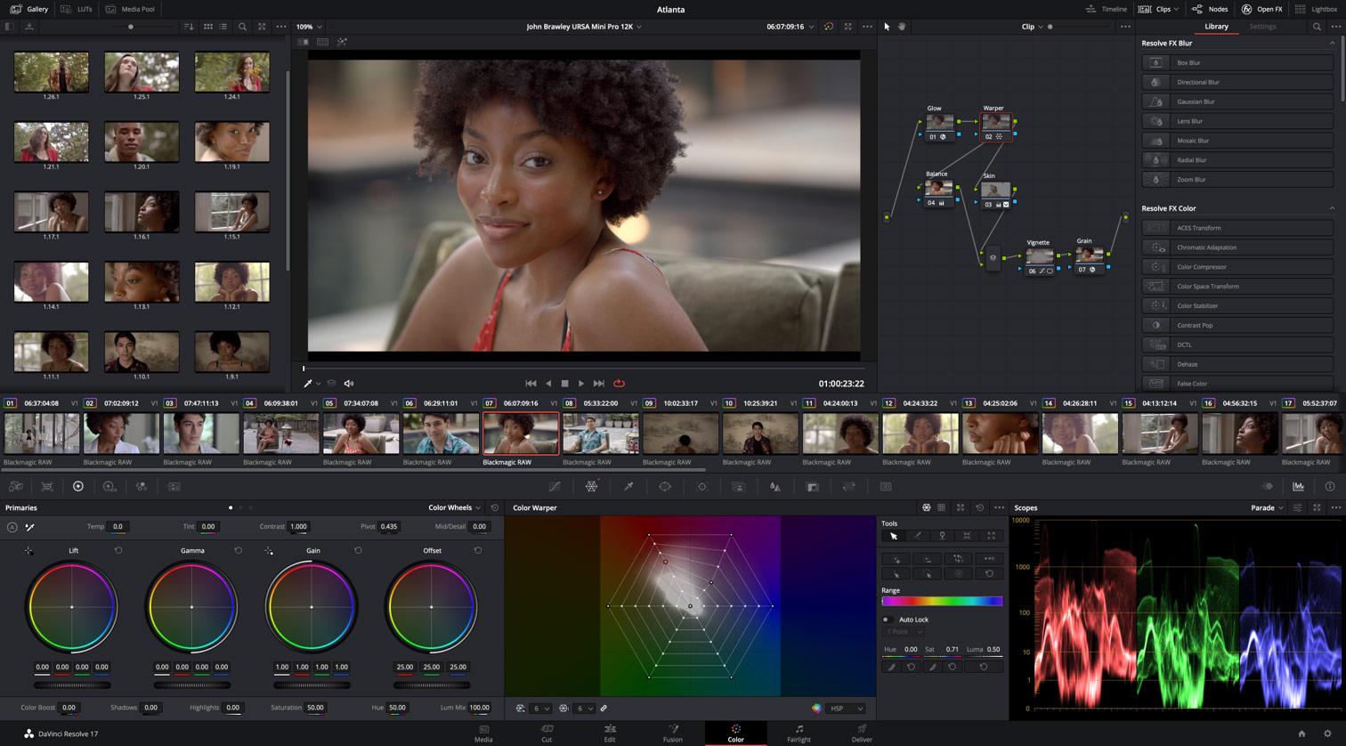 Blackmagic Design ha annunciato DaVinci Resolve 17