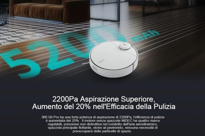 360 S6 Pro: l'aspirapolvere che lava e aspira continua ad evolversi, adesso con codice sconto a meno di 370 euro