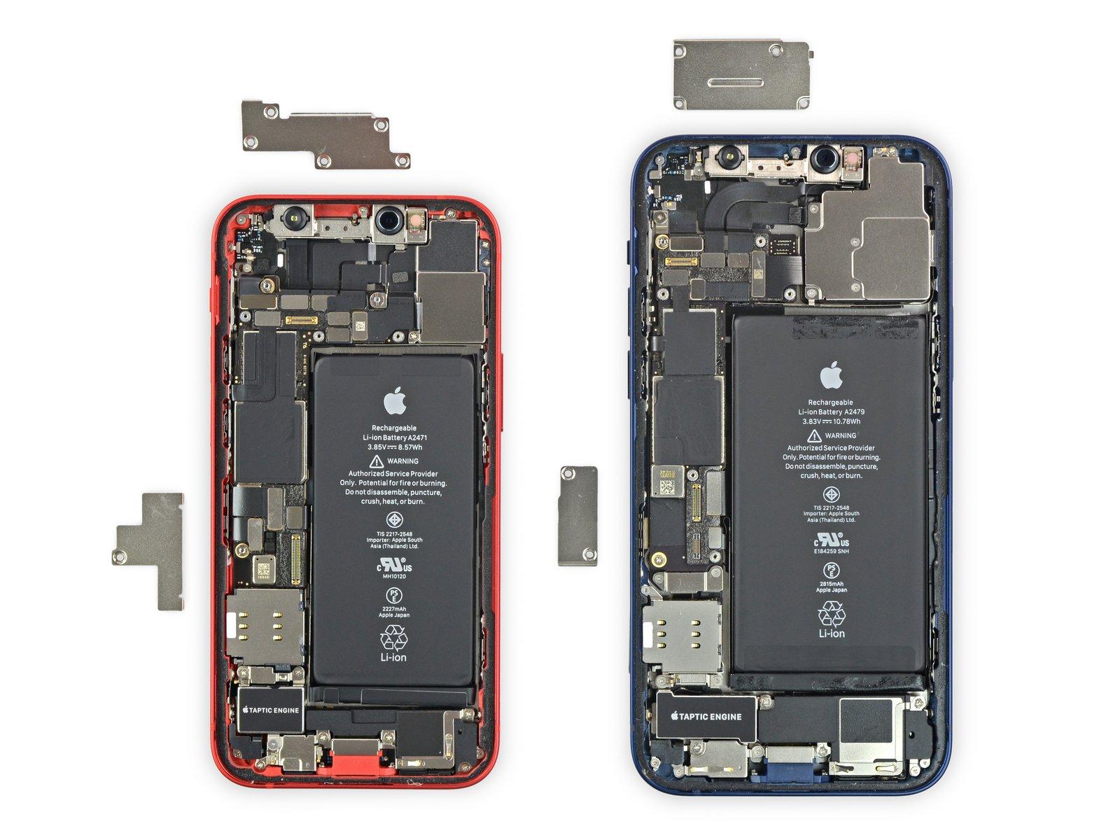 iPhone 12 mini smontato, nessuna sorpresa e batteria da 8.57 Wh