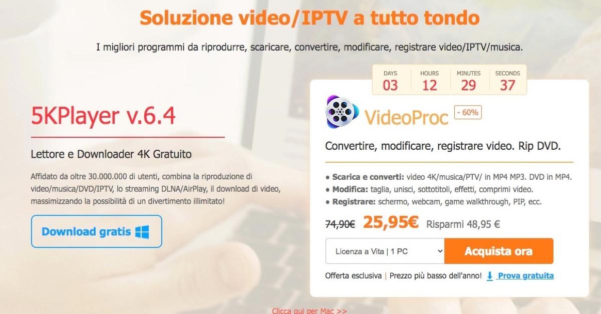 5KPlayer, il player video concorrente di VLC si scarica gratis
