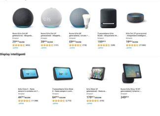 Black Friday: dispositivi Amazon Echo in forte sconto