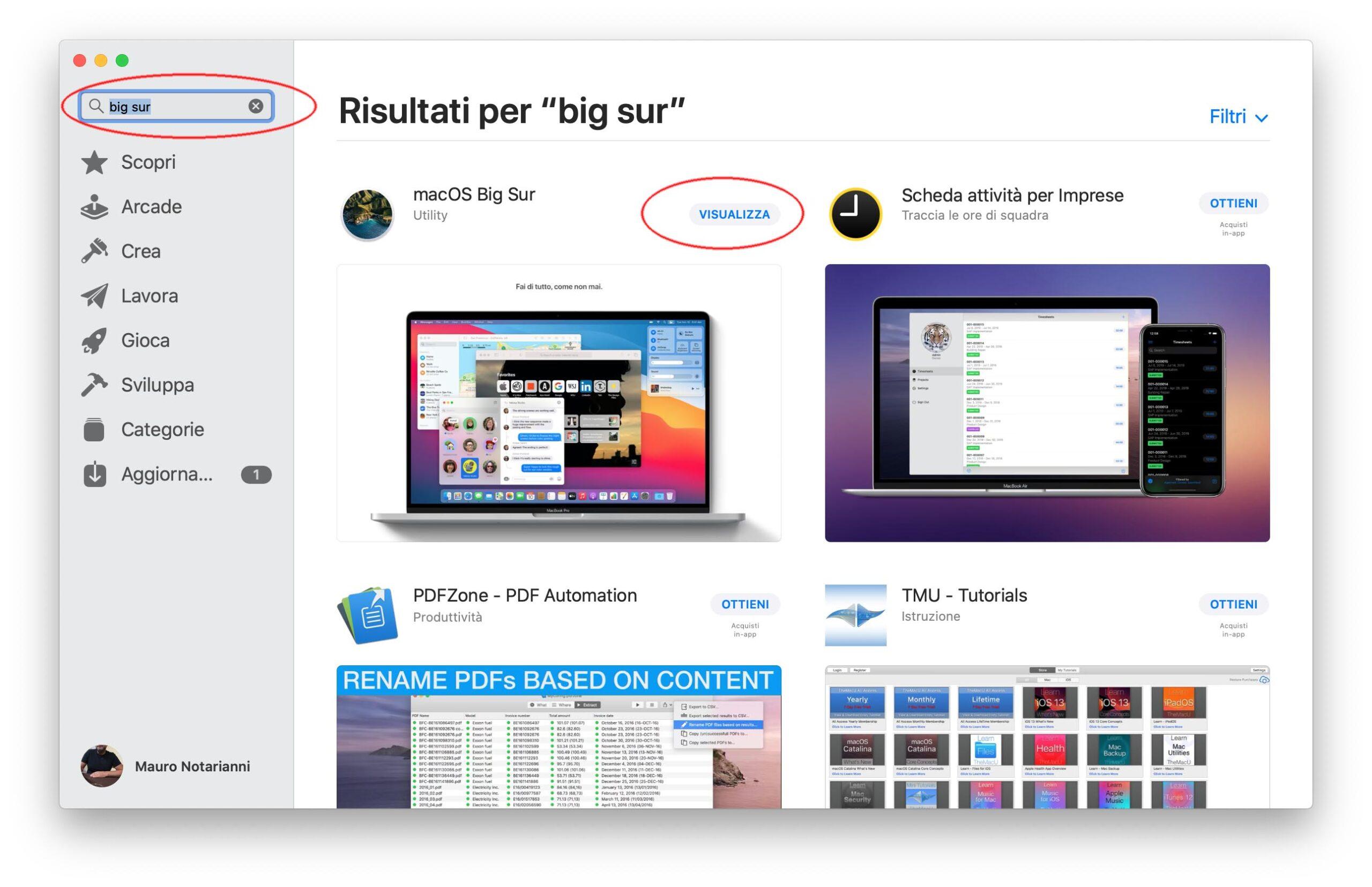 Come scaricare l'aggiornamento a macOS Big Sur in caso di problemi