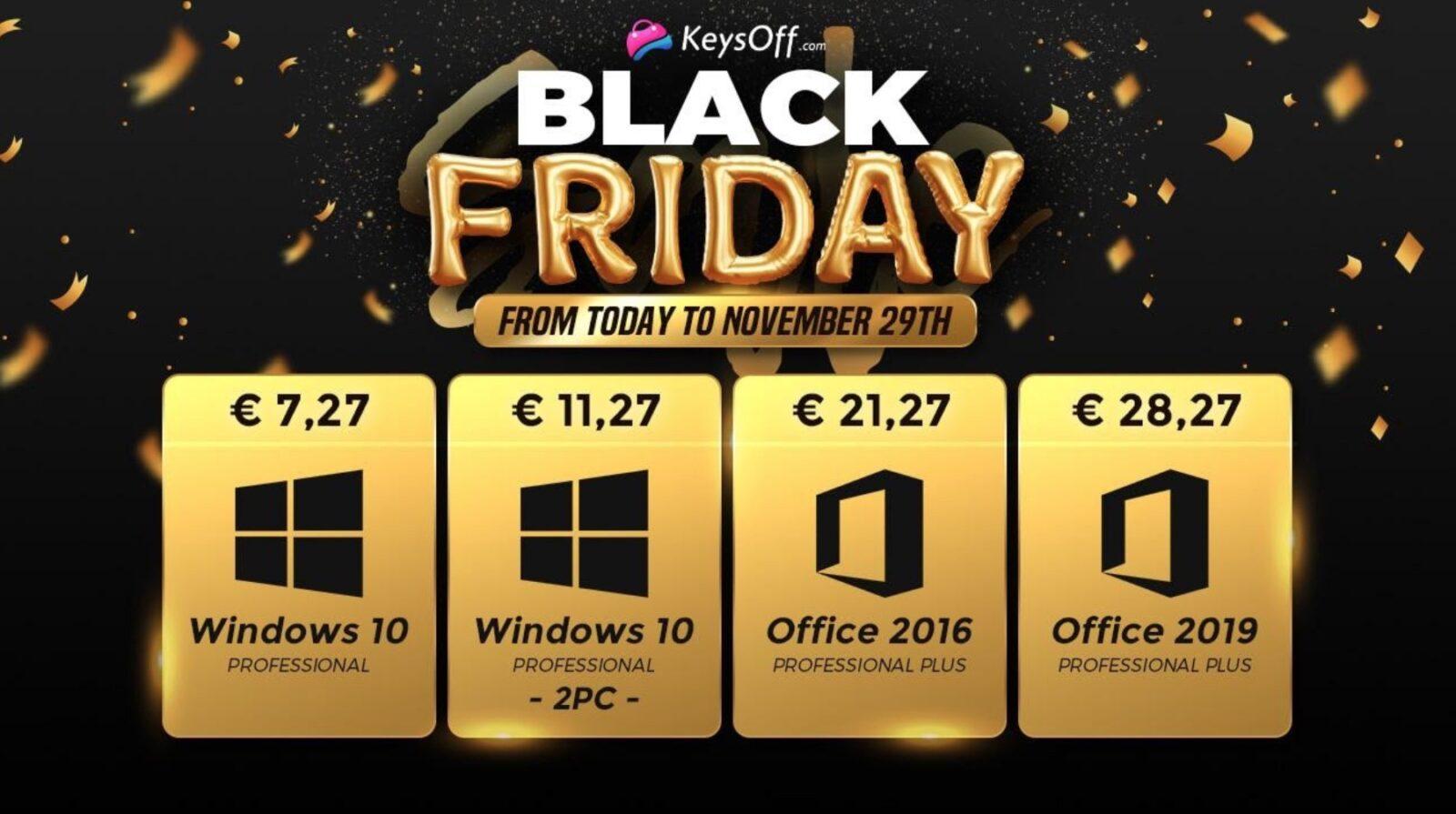 Windows 10 si acquista a soli 5 € per il Black Friday di Keysoff.com: ecco tutti gli sconti