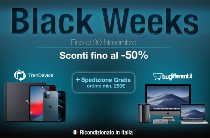 iPhone e Mac scontati fino al -50% e spedizione gratis con il Black Friday TrenDevice e BuyDifferent