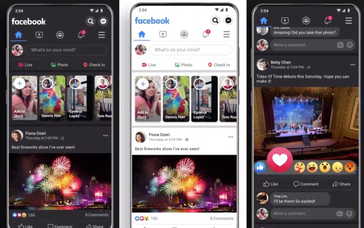 facebook dark mode app ios