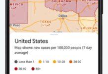 google maps segnala aree covid