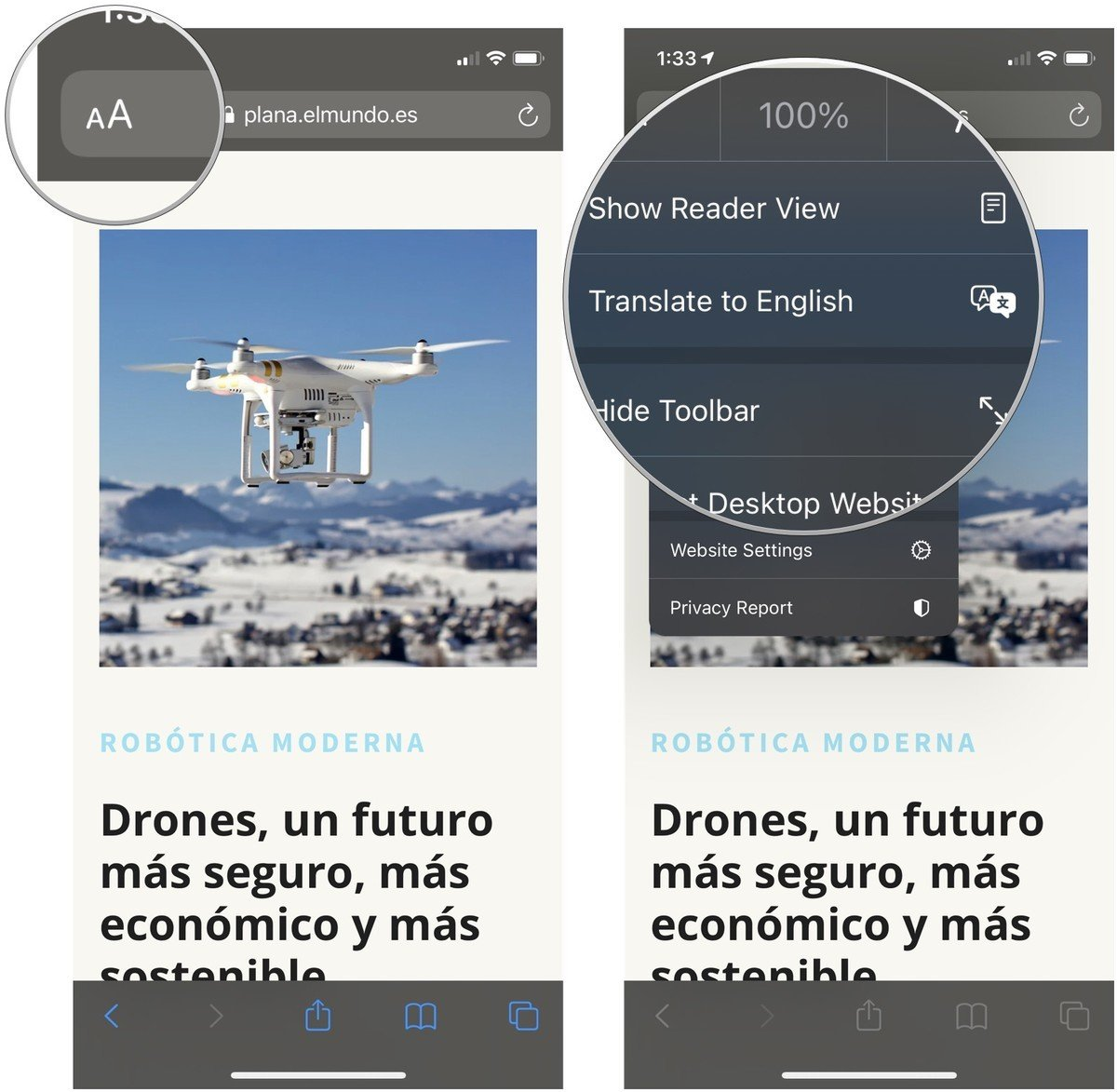 iOS 14, la funzione di traduzione di Safari in altre nazioni (ancora non in Italia)