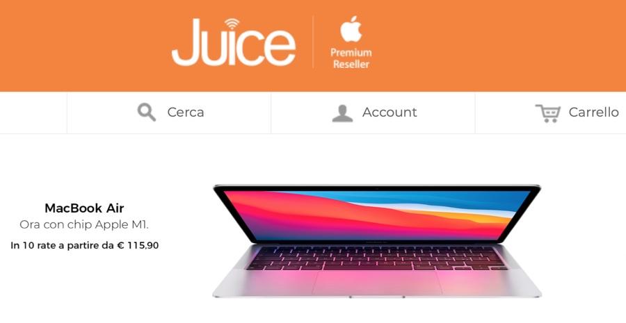 Da Juice disponibili iPhone 12 Pro Max e iPhone mini anche a rate