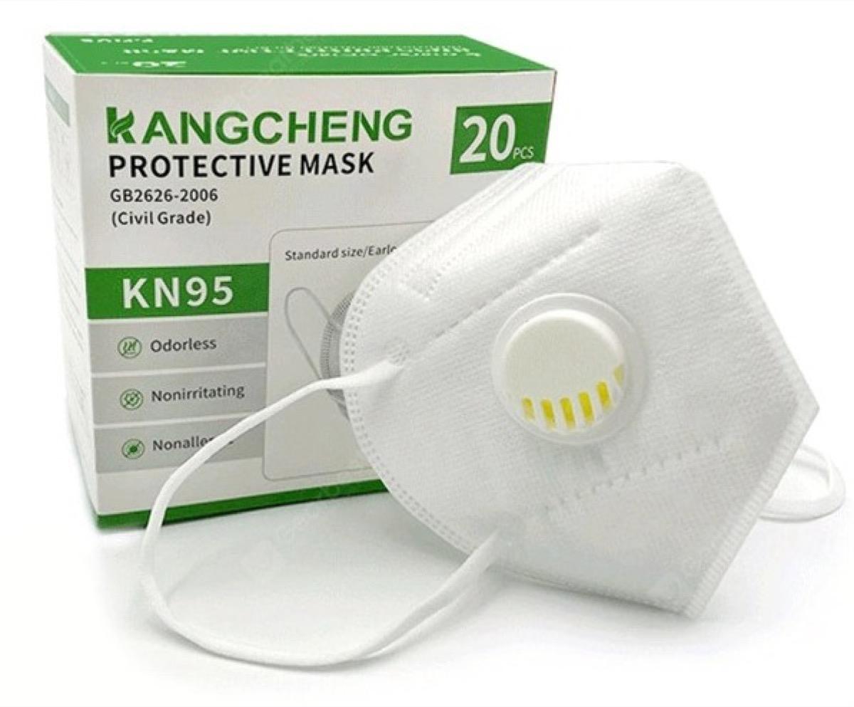 Mascherine KN95 con e senza valvola in offerta a partire da meno di 50 centesimi l'una