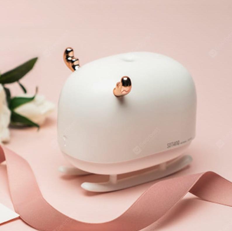 Mini umidificatore con lampada a LED e luce notturna in super offerta a 11,89 euro