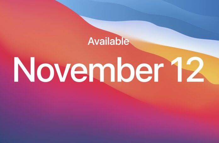 macOS Big Sur arriva il 12 novembre