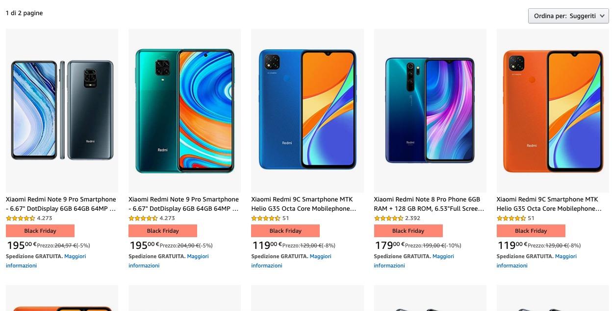 Black Friday Amazon 2020: i migliori smartphone Android in sconto