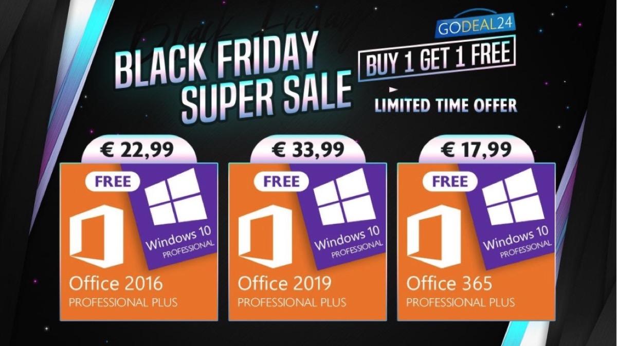 Windows 10 è GRATIS se acquisti Microsoft Office: ecco il Black Friday di GoDeal24.com