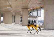 Per la costruzione del  nuovo quartier generale Apple a Londra si usano robot a quattro zampe