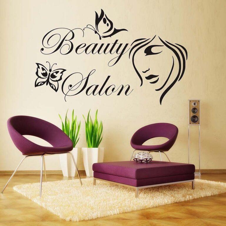 Copygraf Wallprint Esempio di stampa su parete salone di bellezza