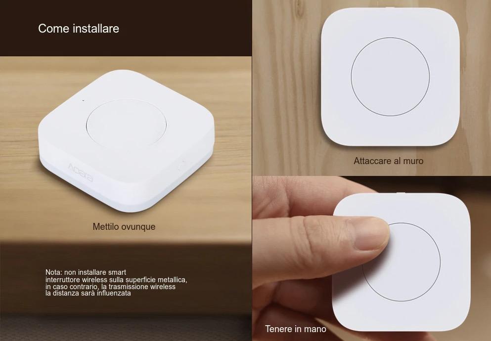 Xiaomi Aqara Switch, l'interruttore tutto fare per la casa smart a 32 euro in offerta lampo