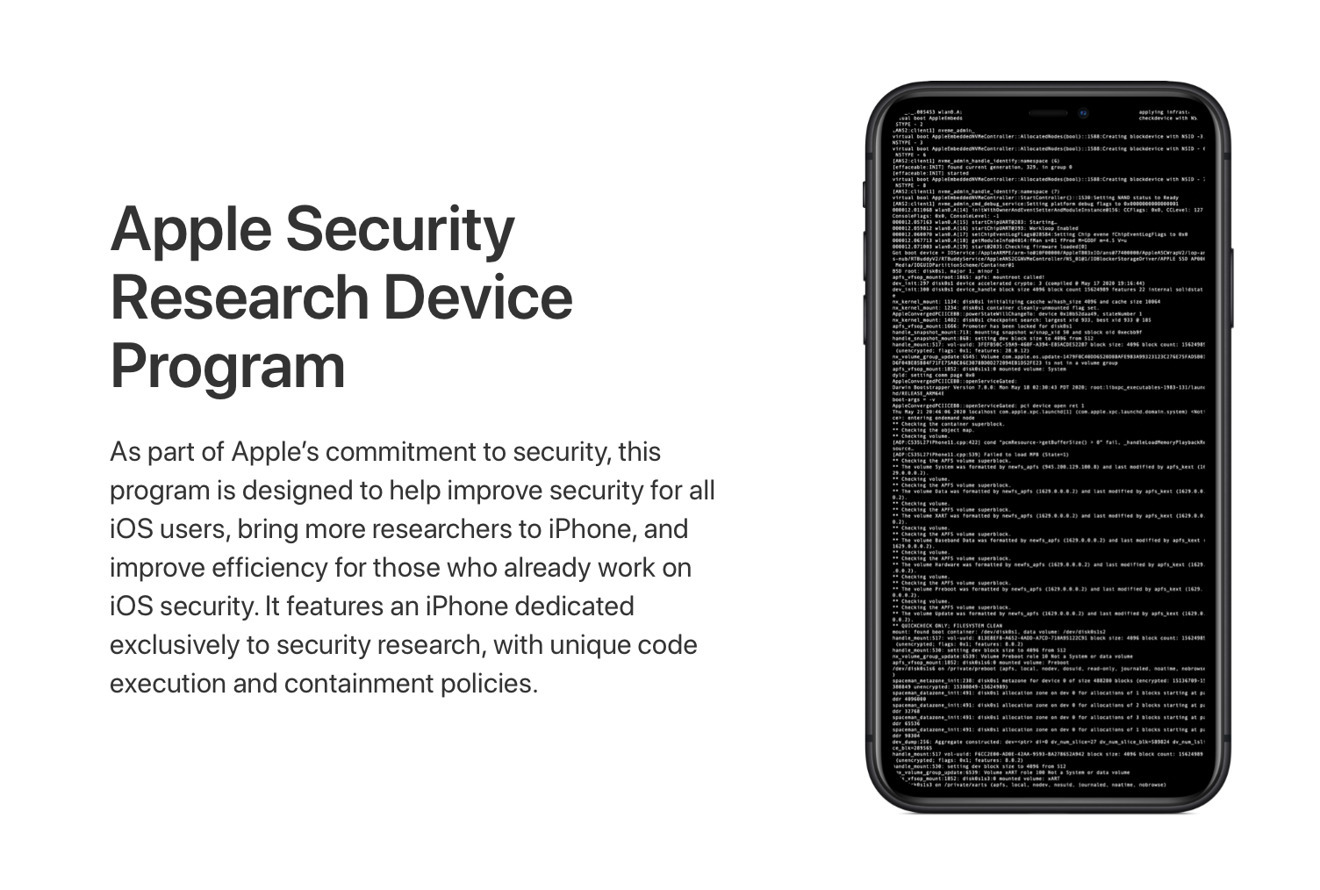 Apple ha cominciato a spedire gli speciali iPhone dell'Apple Security Research Device Program