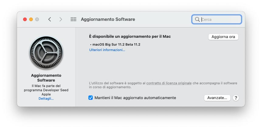 Alcini utenti di macOS Big Sur non riescono ad avviare gli update per un problema con i computer supervisionati